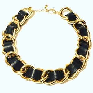Beautiful Chunky Gold Link And Black